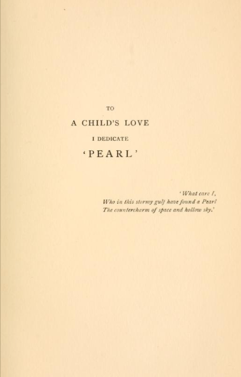 Gollancz 1891 Dedication Page